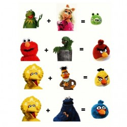 t-shirt angry birds fusion...