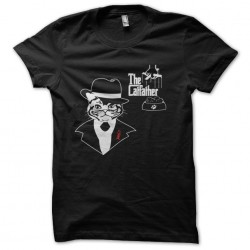 t-shirt the Catfather black...