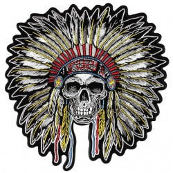 t-shirt indian chief skull...