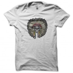 t-shirt indian chief skull white sublimation