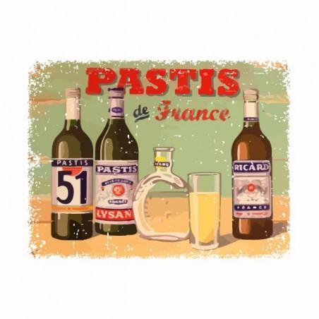 Tee shirt Pastis de France vintage  sublimation