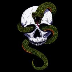 shirt Snake skull black...