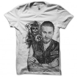 jax teller t-shirt sounds of anarchy white sublimation