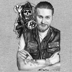 tee shirt jax teller artitic sounds of anarchy gray sublimation