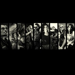 tee shirt Sons Of Anarchy black sublimation poster