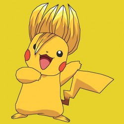 pikachu t-shirt is taken for super saiyan yellow sublimation