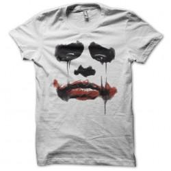 sad joker t-shirt in white sublimation paint