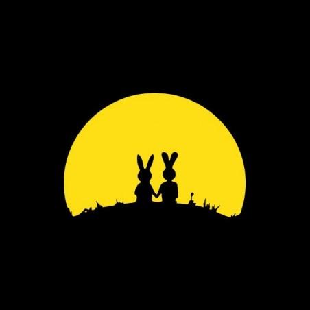 Tee shirt Rabbit sunset black sublimation