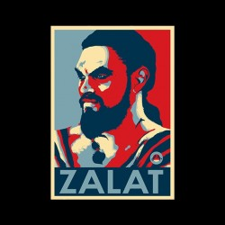 Zalat t-shirt from game of thrones black sublimation