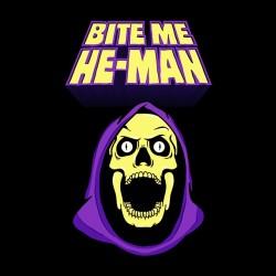 tee shirt Bite me he man...