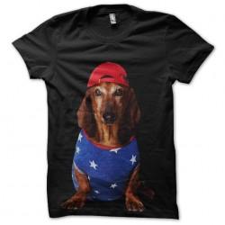t-shirt swagy dog black...