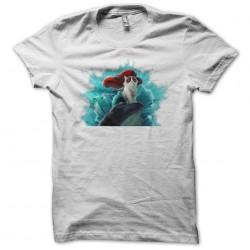 tee shirt cat parody little siren white sublimation