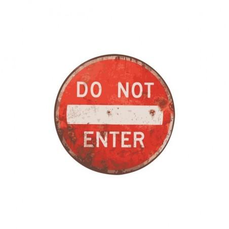 Do not Enter white sublimation t-shirt