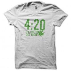 Tee Shirt 420 cannabis weed  sublimation