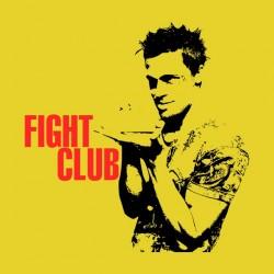 Fight Club t-shirt brad pitt yellow sublimation