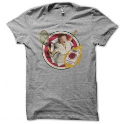 Tee shirt Lucky Strike Tennis pin up 50's style gris sublimation