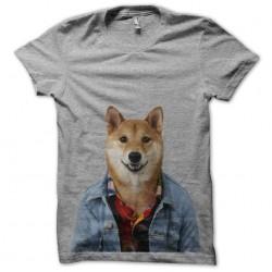 dog tee shirt that has gray...