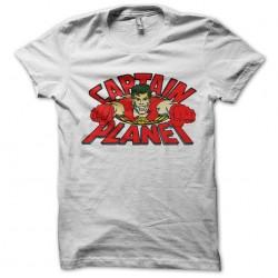 Captain Planet white sublimation t-shirt