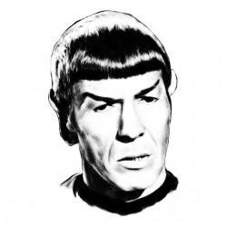 Mr. Spock white sublimation t-shirt