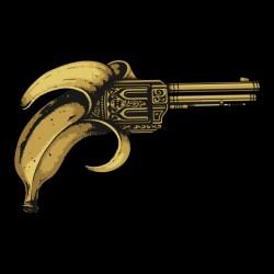 banana gun t-shirt black sublimation