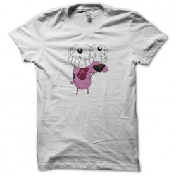 white sublimation cartoon character t-shirt