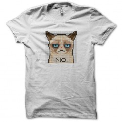sad white cat t-shirt sublimation