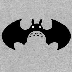 tee shirt totoro batman gris sublimation