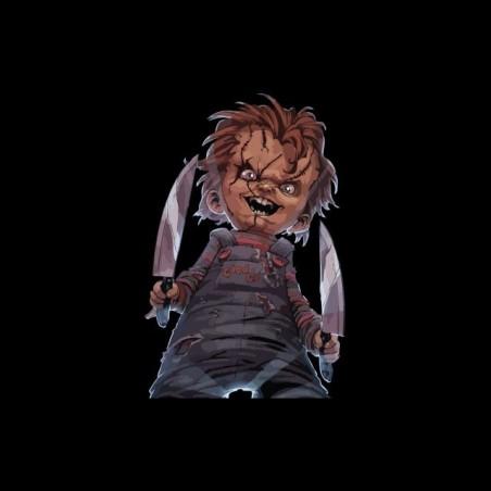 Tee shirt Chucky the doll artwork black sublimation