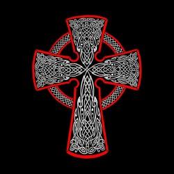 shirt Celtic Cross black sublimation