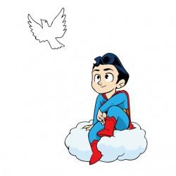 t-shirt superman teenager...