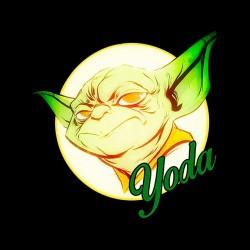 tee shirt Yoda signature black sublimation