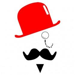 tee shirt Mr moustache...