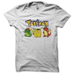 t-shirt tokemon rasta white sublimation
