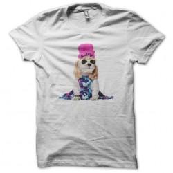 dog tee shirt selfie white sublimation
