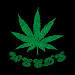 tee shirt weeds black sublimation
