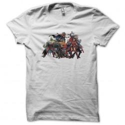 Avengers white sublimation t-shirt