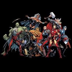 Avengers shirt black sublimation