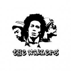 tee shirt the wailers white...