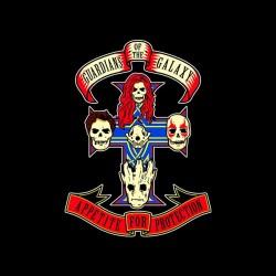 tee shirt the guardians of the galaxy parody logo Guns N 'Roses sublimation