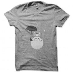 tee shirt rain totoro gray...
