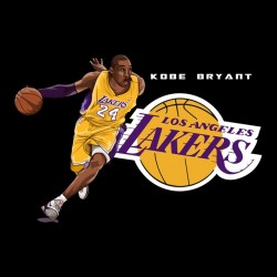 tee shirt Kobe Bryant lakers  sublimation