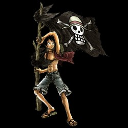tee shirt one piece luffy black sublimation