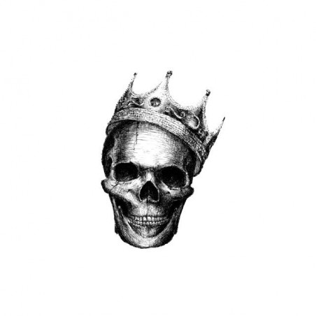 T-shirt Skull with white crown sublimation
