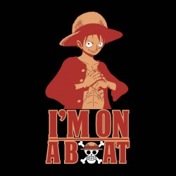 luffy t-shirt im on a boat black sublimation