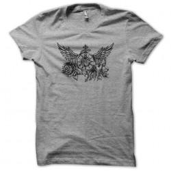 t-shirt lion tattoo gray...