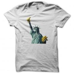 t-shirt Statue of liberty white banana dispenser sublimation