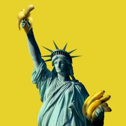 t-shirt Statue of liberty banana distributor yellow sublimation