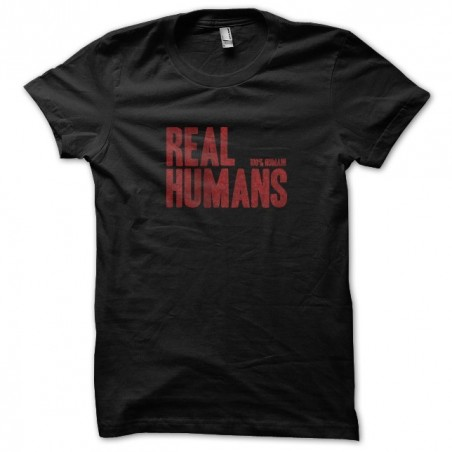 T-shirt tv series real humans 100% human red black sublimation