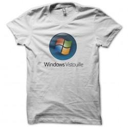 T-shirt Windows Vista parody Vistouille white sublimation
