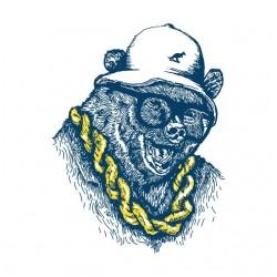 t-shirt bear swag black sublimation